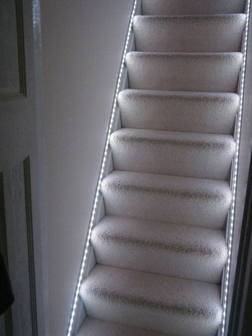 Colour changing stairs